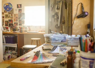 Abby's studio, flooded with light
